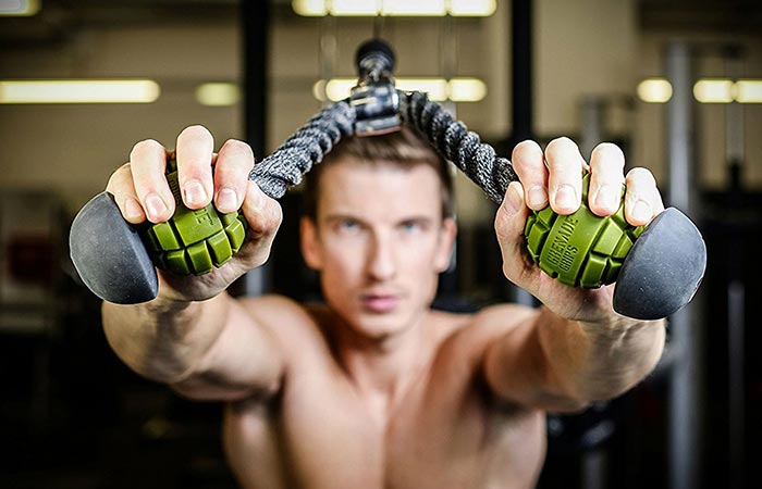 A Guy Using Grenade Grips