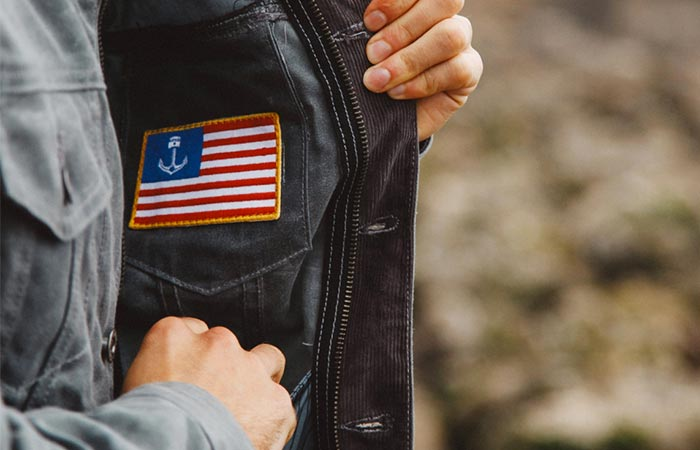 Reaching The Inside Pocket On Iron And Resin X Huckberry Rambler Jacket