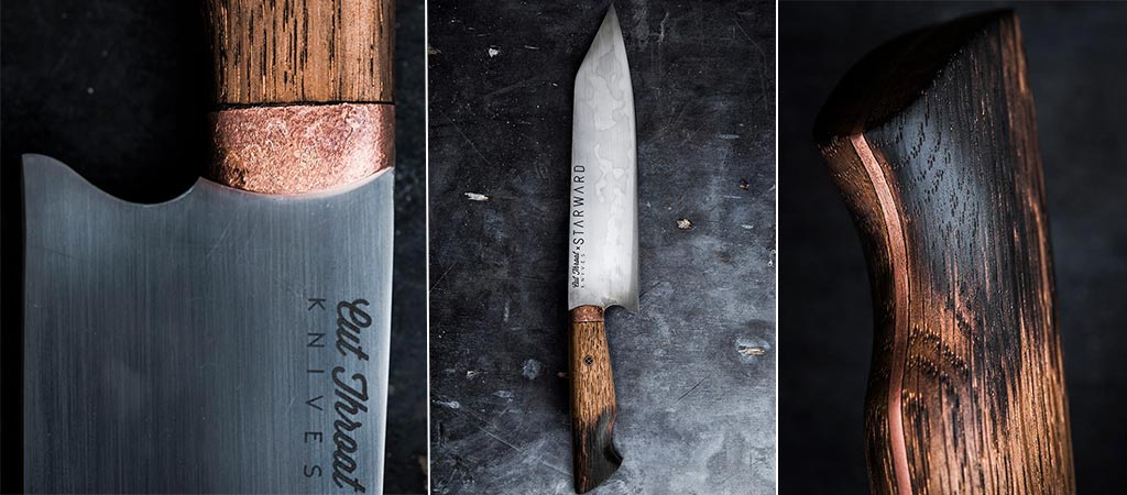 Cut Throat Knives X Starward | Limited Edition Bunka Style Chef Knife