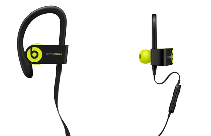 Powerbeats 3 side and front view