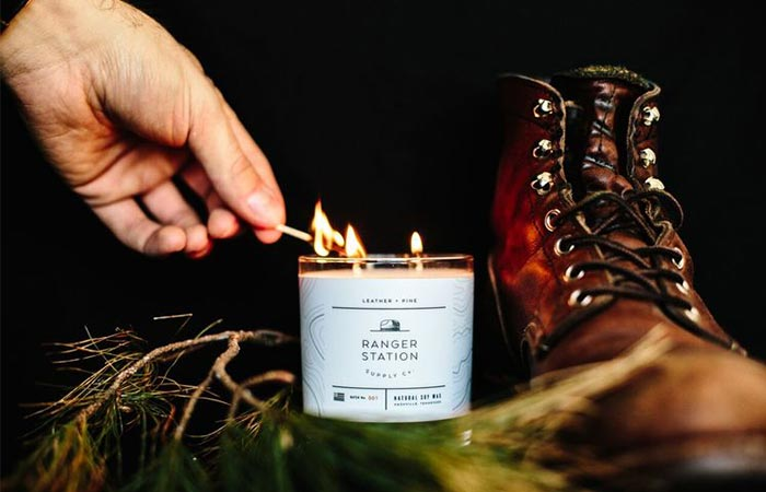 Lighting a Ranger Station candle