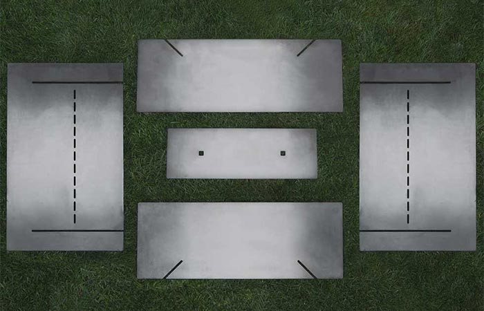 Five Steel Pieces Of Stahl Firepit