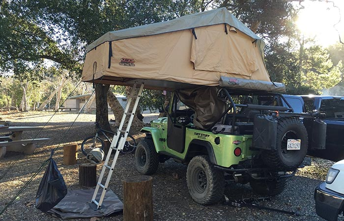 Back view of the Tuff Stuff Overland on a Jeep