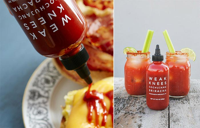 Weak Knees Gochujang Sriracha On A Sandwich And Bloody Mary