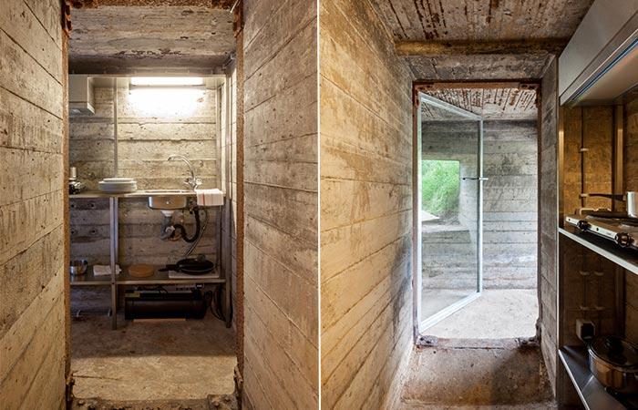 a bunker entrance