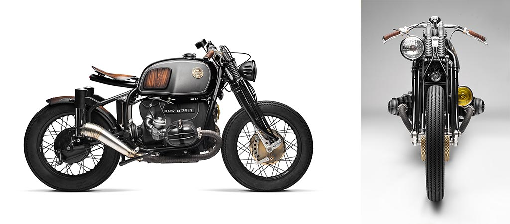 BMW R75/5 Nerboruta Custom side and front view