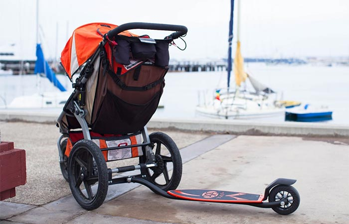 Bobtail Attached To A Stroller
