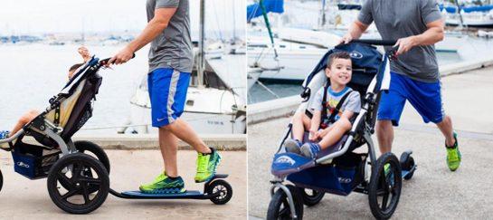 Bobtail | A Skateboard Attachment Strollers