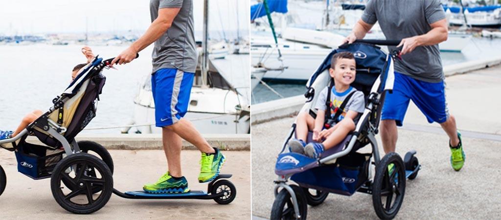 Bobtail | The Skateboard Attachment For A Stroller