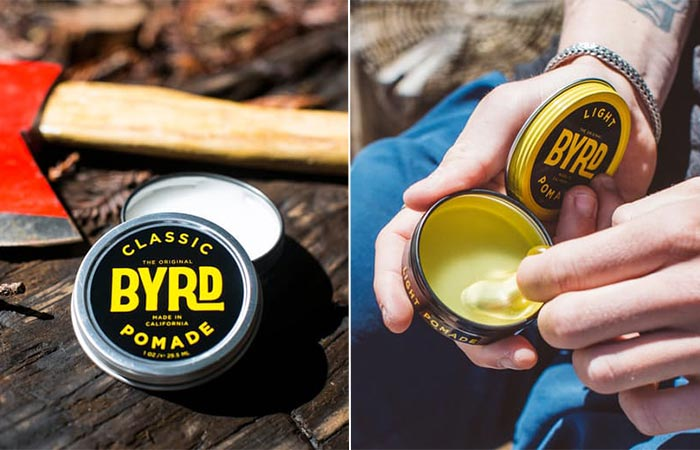 two images of Byrd pomade