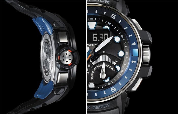 Two different views of the Casio G-Shock Gulfmaster