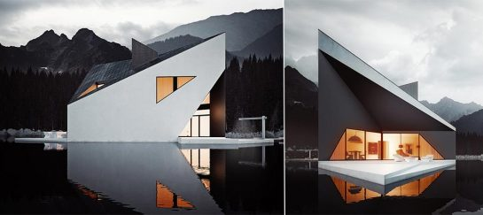 Crown House | A Minimalistic Lake House Project
