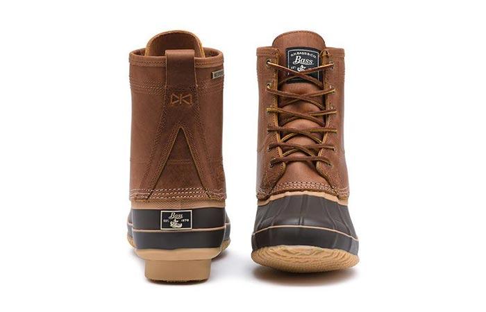 cognac duck boots