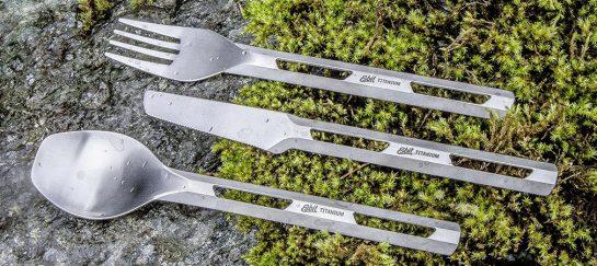 Esbit   Titanium Cutlery Set For Camping