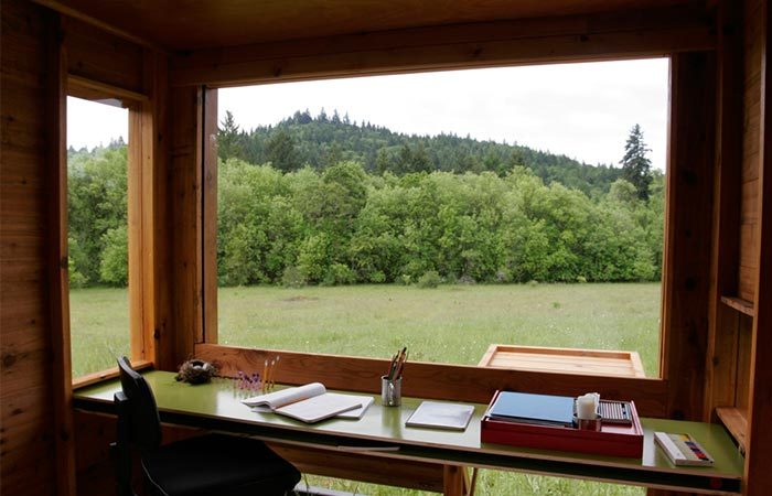 A view from the window of Float Watershed Writing Studio