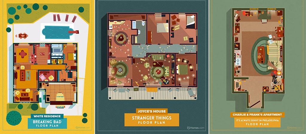 Breaking Bad and Stranger Things Floor Plans