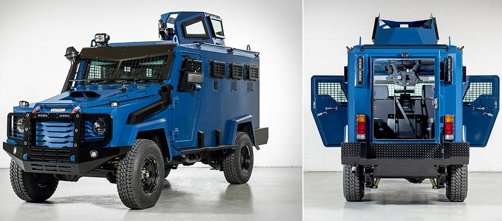 Two different views of the Inkas Hudson APC