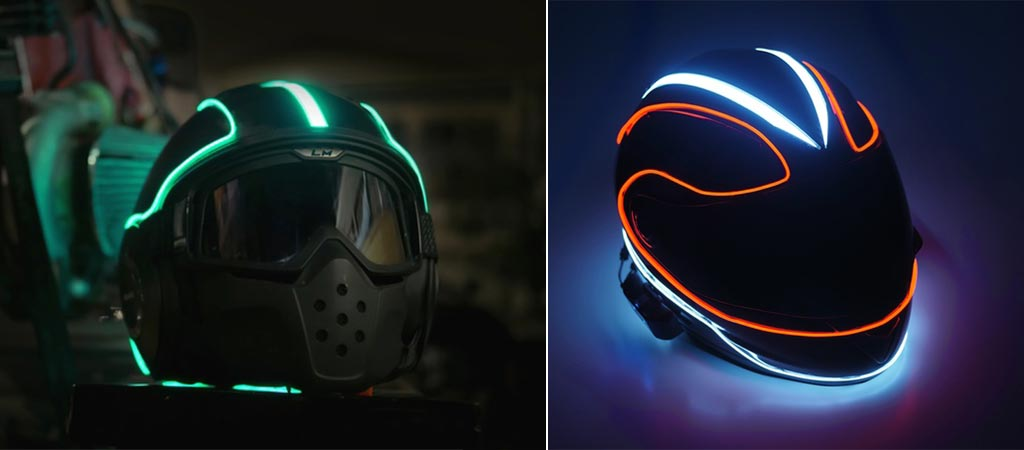 Lightmode Kits in green and in blue and red