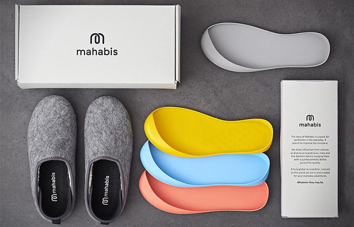 a packkage of Mahabis Classic Slippers
