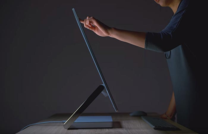 Side view of the Microsoft Surface Studio