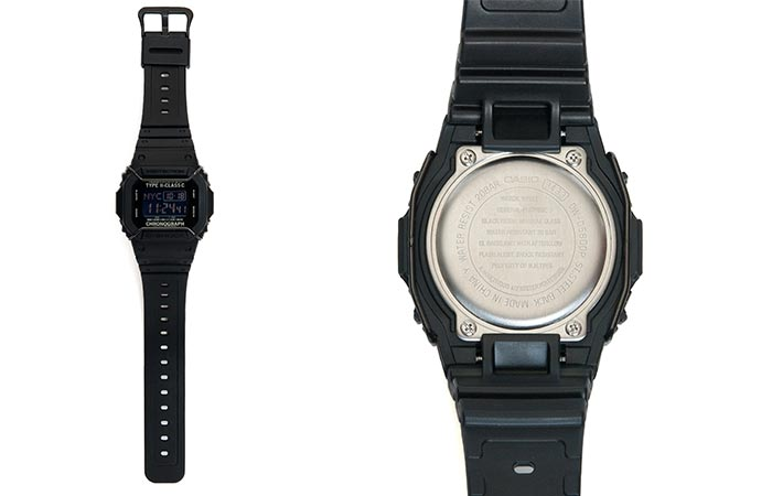 a black casio watch