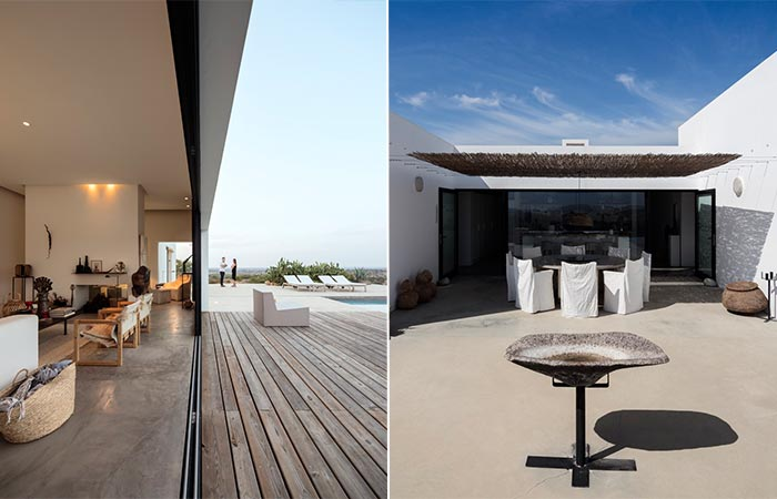 two private terraces