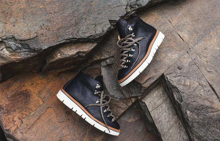 Ronnie Fieg x Fracap RF120 Hiking Boot in navy