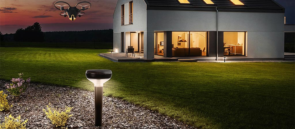 Sunflower Home Awareness System with drone and light