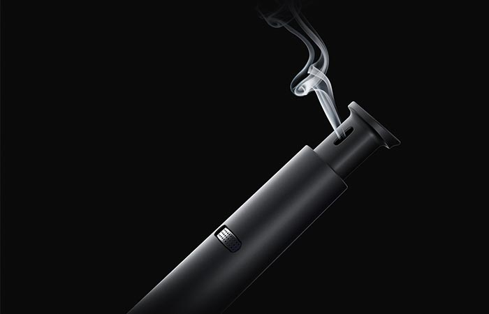 a mouth piece on a vaporizer pipe