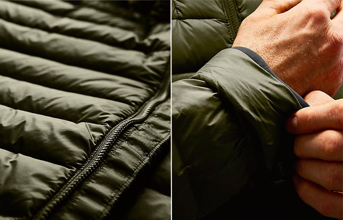two images of The North Face Morph Jacket features