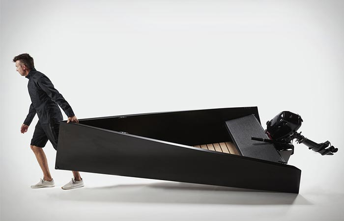 Man dragging the Tinnie 10 Boat