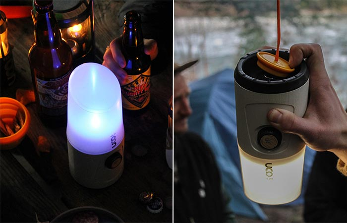 two images of UCO Madrona Hang-out Lantern
