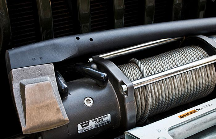 Vario 2000 on top of a winch