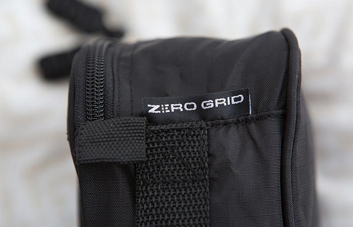 Zero Grid detail on a bag