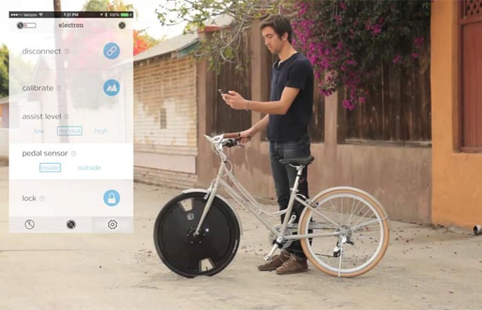 Man using the Electron Wheel app to select options