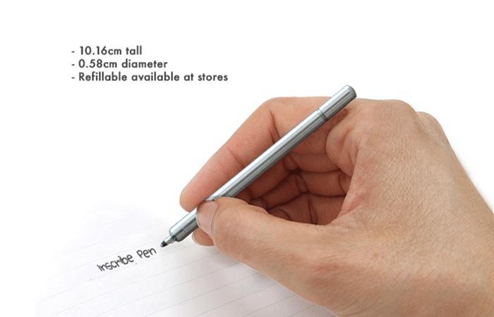 Inscribe Pen being used.