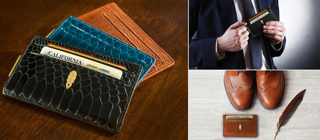 Three different views of the Inscribe Wallet