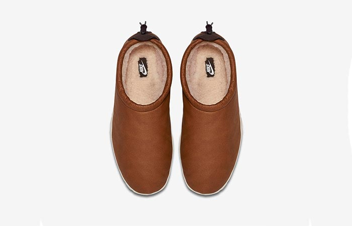 Nike Air Moc Bomber in Cognac top view