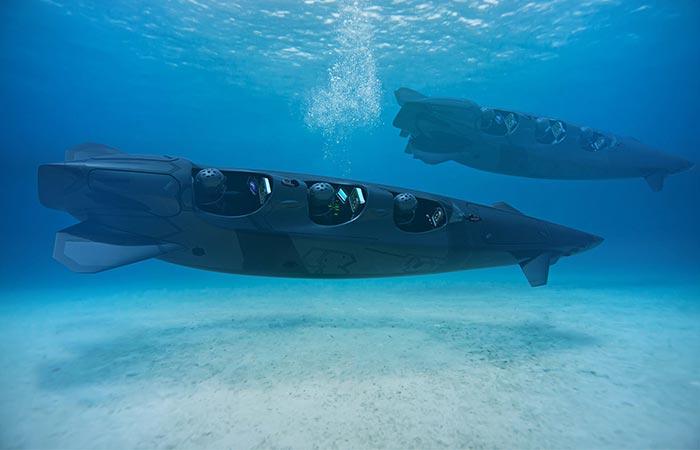 Ortega Submersibles two Mk.1C models underwater