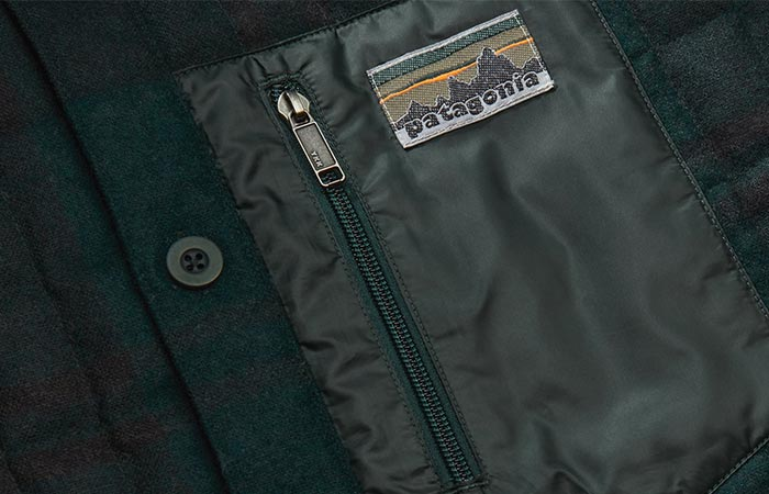 a detail on the Patagonia shirt jacket