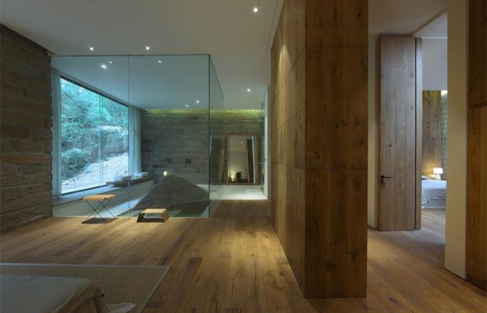 wooden interior of the second floor