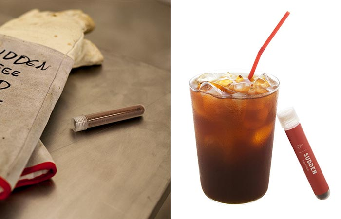 two images of Sudden Coffee