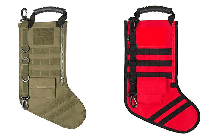 Tactical Christmas Stocking With Molle Gear in two different colors