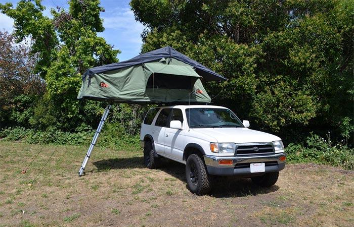 Tepui Autana Ruggedized tent on a white SUV