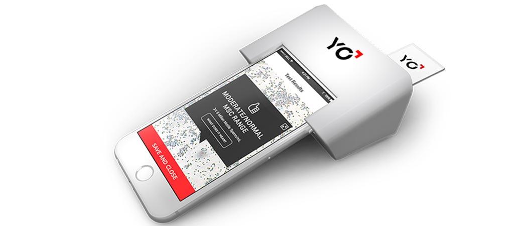 Yo Sperm Test device in use