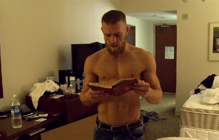 Conor McGregor reading from Jack Canfield's Key to Living the Law of Attraction