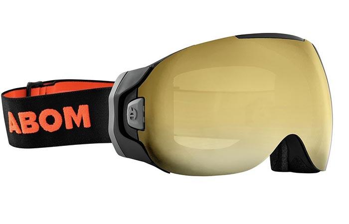 Abom Anti-Fog Ski Goggles in gold