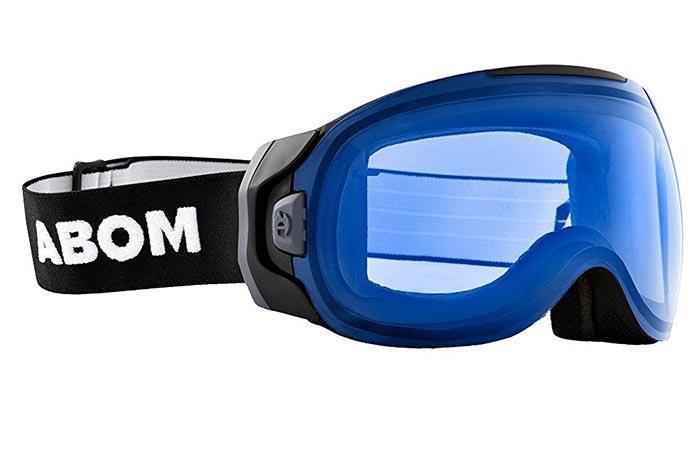 Abom Anti-Fog Ski Goggles in ocean blue