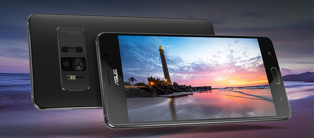 Front and back view of the Asus Zenfone AR