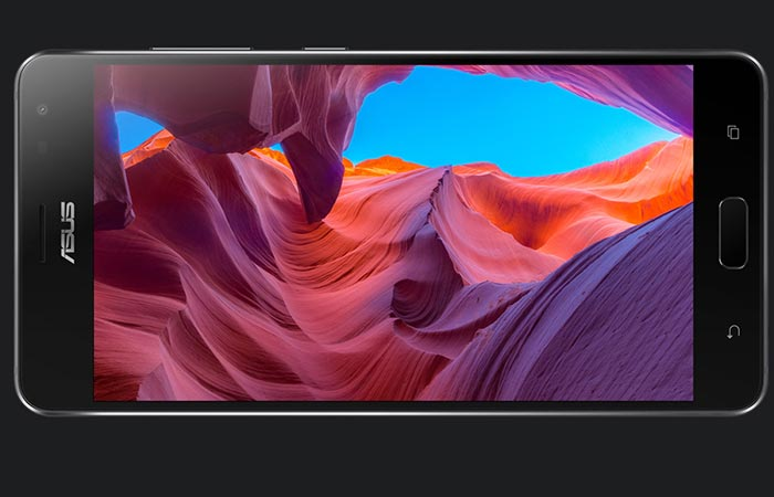 Asus Zenfone AR front view with a picture of a canyon